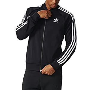 adidas Originals Men's Superstar Track Jacket, Black, Medium