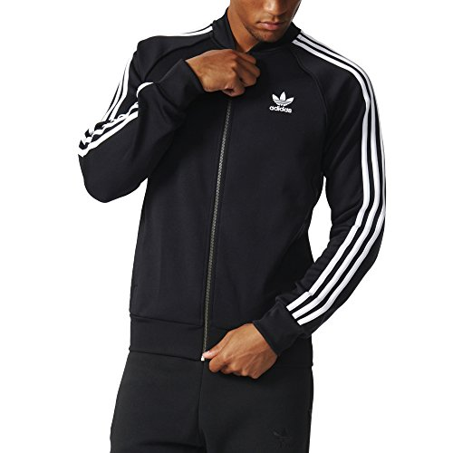 adidas Originals Men's Superstar Track Jacket, Black, -