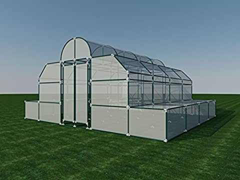 Build your own 18' X 20' PVC Greenhouse (DIY Plans) Fun to build! Save Money! (House Plans In Autocad)