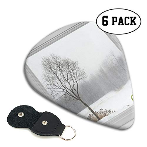 - Guitar Picks 6 pcs,Green Teacup On A Windowsill Forest Outdoors February Snowstorm Scenic Countryside