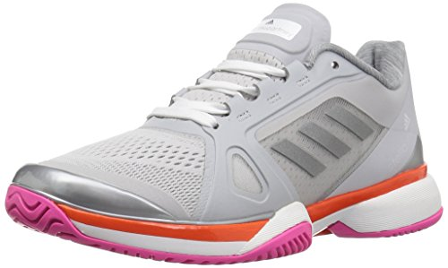 adidas Women's Shoes | Asmc Barricade 2017 Tennis, Light Solid Grey/White/Radiant Orange, (7.5 M US)