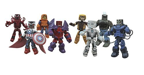 (Marvel Minimates Series 62 Axis Captain America, Superior Iron Man, Carnage, Kluhand more Mini-Figures Set of 4 2-packs)