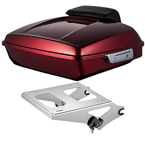 - Moto Onfire Us Stock Velocity Red Sunglo Razor Tour-Pak Pack Backrest Pad 2 up Mount Rack Fit for 2014-2019 Harley Touring Street Glide Road Glide Road King Electra Glide Ultra Classic