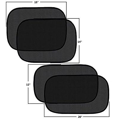 Pulaisen Car Window Shade - Sunshade for Car Side Window Clings - 80GSM UPF50+ Blocks Over 99% of Harmful UV Rays - Baby Side Window Car Sun Shades 20