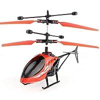 TOOGOO Aeronave de induccion RC mini volador Aviones RC Juguete avion de control remoto de induccion de mano inteligente rojo