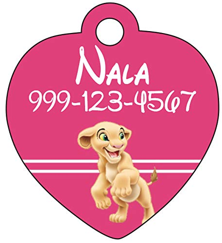 uDesignUSA Disney Lion King Nala Pet Id Tag for Dogs & Cats Personalized w/Name & Number