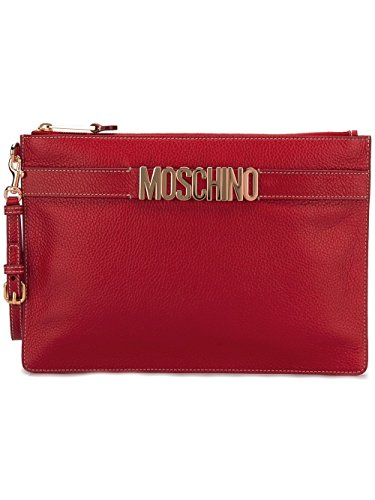 MOSCHINO FEMME A841380031115 ROUGE CUIR POCHETTE