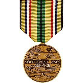 United States Military Armed Forces Full Size Medal - Southwest Asia Service (Ribbon Service Medal Asia Southwest)