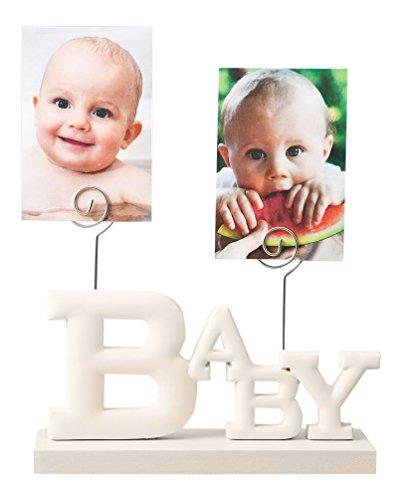 Fashioncraft 12854 Rose White Baby Photo Holder Rose Baby Photo (Boy Photo Holder)
