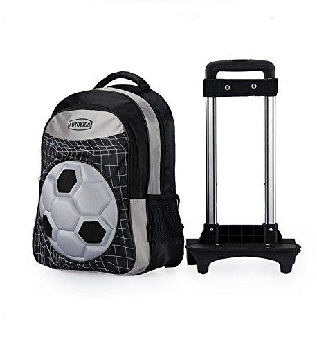 72fe6a5d3d2a Football Children School Bags Boys Orthopedic Backpack with Wheels Trolley  Bag - Buy Online in UAE.