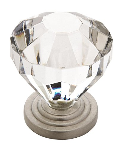 Crystal Amerock (Amerock 14303CSG Traditional Classics 1-1/4 in (32 mm) Diameter Clear/Satin Nickel Cabinet Knob)