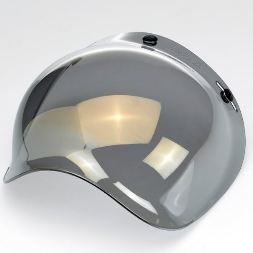 Biltwell Smoke Tint Bubble Shield (Gold Mirror, One Size) by Biltwell