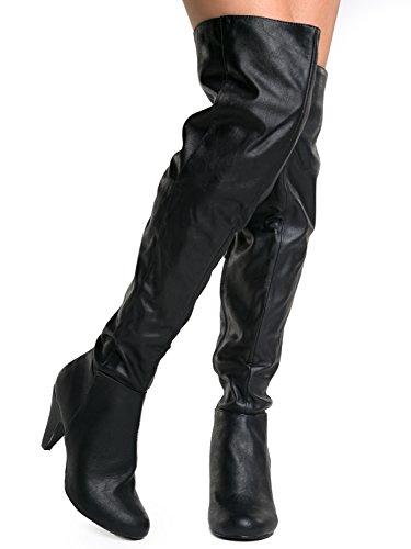 01 Method Su the Black Hot Over Fashion Women's Knee Boots Premium Stretch fEqRgxwRa