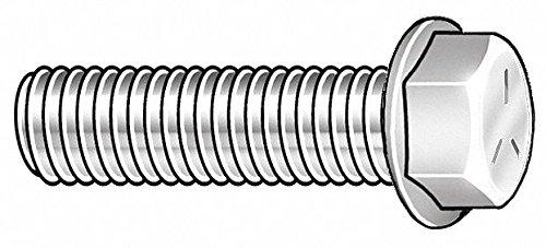 35mm Steel Hex Flange Bolt, Class 8.8, Zinc Yellow Finish, M8-1.25 Dia/Thread Size, 100 PK