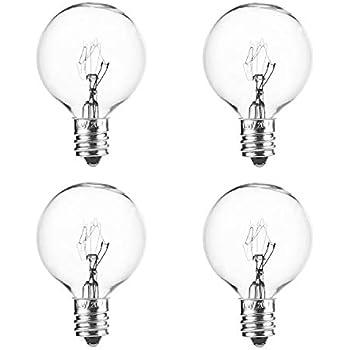 20Watt Replacement Light Bulbs for Scented Oil Wax Melts Warmer-4 Packs