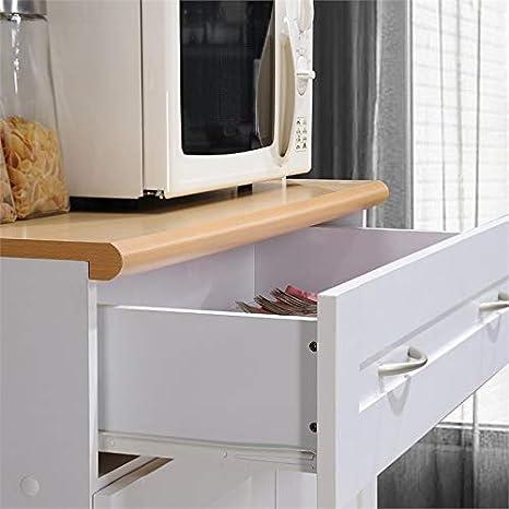 Amazon.com: Pemberly Row - Armario de cocina, color blanco ...