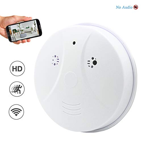 Seahon Camera Smoke Detector Wireless Hidden Spy Camera WiFi 1080P Nanny Cam Motion Detection Home Security Wall Mount Camera Remote Control Android iOS Free App PC View