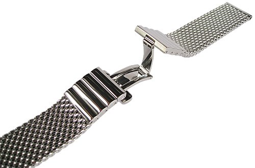Staib 20mm Polished Mesh 150mm Stainless Steel Mens Watch Band Model 2792 by Staib (Image #2)
