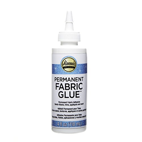 Clear Adhesive Fabric Dries (Aleene's Permanent Fabric Glue 4oz)
