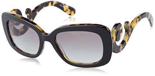 Prada Women's SPR270 Sunglasses, Black/Medium - Prada Sunglasses Authentic
