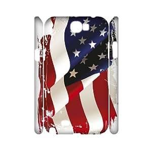 lintao diy Samsung Galaxy Note 2 N7100 case Of American Retro Flag Customized Hard Case