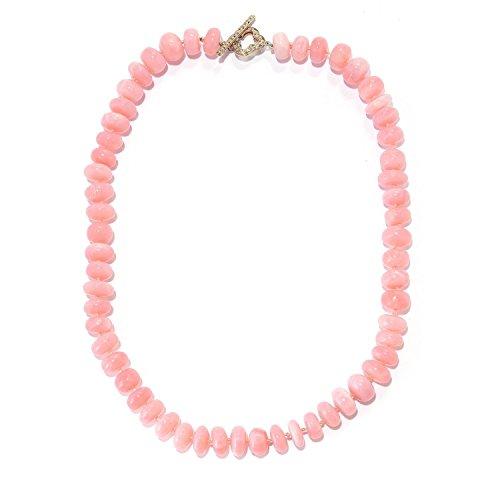 Michael Valitutti Palladium Silver Peruvian Pink Opal Beaded Toggle ()