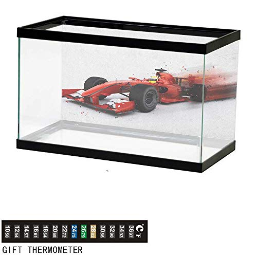 Jinguizi CarsFish Tank BackdropGeneric Formula 1 Racing Car Illustration with Special Effect Turbo Motion Auto Print36 L X 20