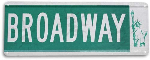 TIN Sign Broadway Sign Tin Metal Sign New York Street Metal Sign Decor -