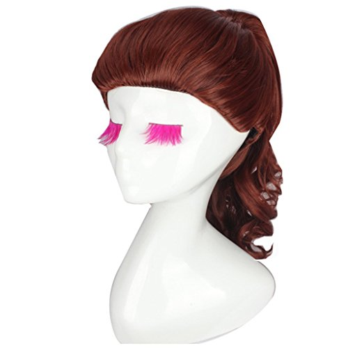[Generic Cosplay Wig by Belle Princess of Beauty and the Beast Movie Wigs Long Curly Brown] (Belle Wigs)
