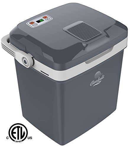 Cooluli Electric Cooler and Warmer (26 Liter): AC/DC Portable Thermoelectric System w/ Temperature Control Digital Display (Ac Refrigerator)