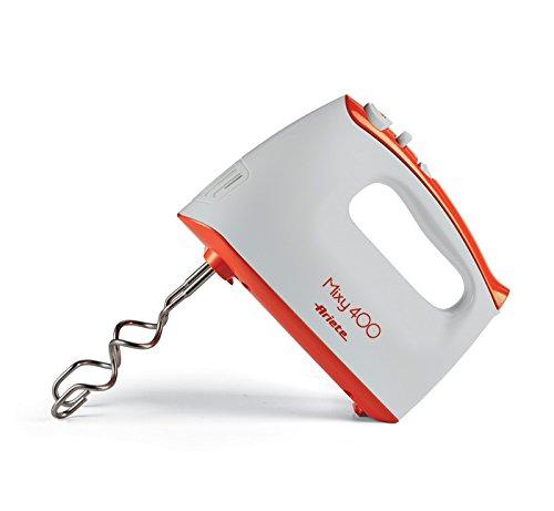 Ariete Mixy Batidora Eléctrica, 2 juego de varillas para batidoras) Ed mezclar, 5 velocidad más Turbo, 400 W, plástico, blanco/naranja