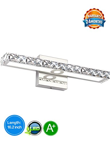 LED Vanity Lights,SOLFART Crystal Wall Mirror Vanity Light Fixtures For Bathroom Vanity Bedroom Lighting (Bathroom Lighting Fixtures Fixture)