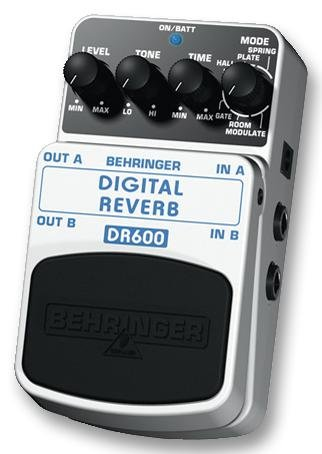 GUITAR PEDAL, STEREO DIGITAL REVERB DR600 By BEHRINGER