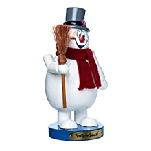 "Kurt Adler 10"" Wooden Frosty the Snowman Nutcracker"