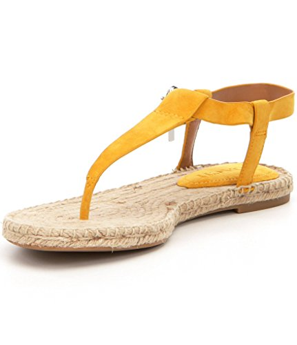 Coach Womens Breeze Split Toe Casual Espadrille Sandals, Yellow, Size 5.5