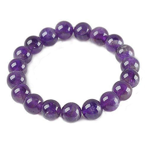 Top Plaza Semi-Precious Gemstones Healing Power Crystal Stretch Beaded Bracelet (Natural (Beaded Gemstone Jewelry)