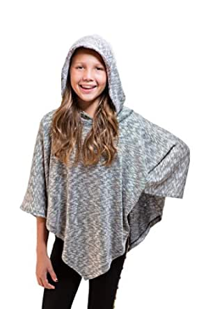 Rosie G Girl's Smiley Poncho 4 Black/White/Gold