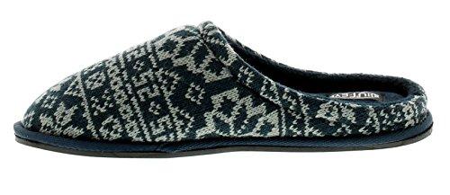 Wynsors New Mens/Gents Navy Slip ONS Mules Slippers - Navy - UK Sizes 6-12 1UsYsdORD