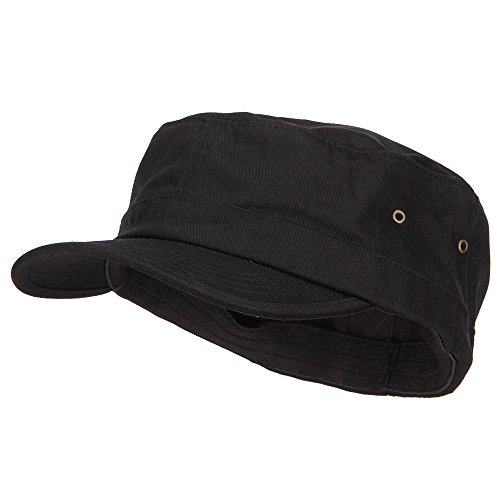 E4hats Big Size Fitted Trendy Army Style Cap - Black 2XL-3XL -