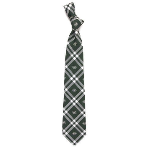 Eagles Wings NFL New York Jets Men's Woven Polyester Rhodes Necktie, One Size, Multicolor