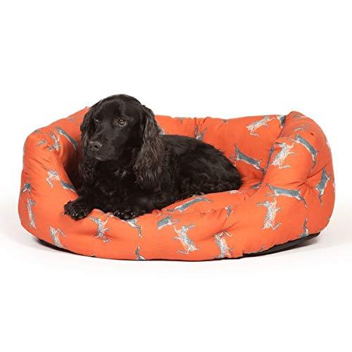 26 cm H x 64 cm W x 53 cm D Classic Plain Pattern Round Shaped Bolster Cushion For Pets (Material  Cotton, color  Russet) (26 cm H x 64 cm W x 53 cm D)