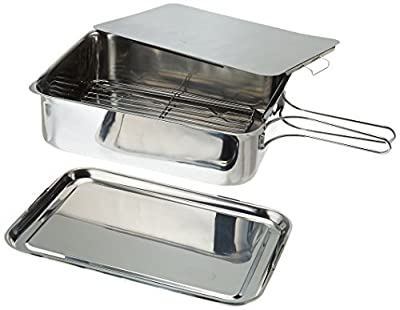 ExcelSteel Stainless Steel Stovetop Smoker, 14 1/2 X 10 1/2 X 4, Silver by ExcelSteel by ExcelSteel