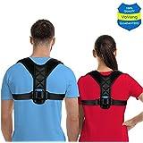 Posture Corrector for Men Women - USA Designed Posture Brace - Effective Upper Back Brace for Clavicle Support and Providing Pain Relief from Neck, Back & Shoulder - FDA Approved