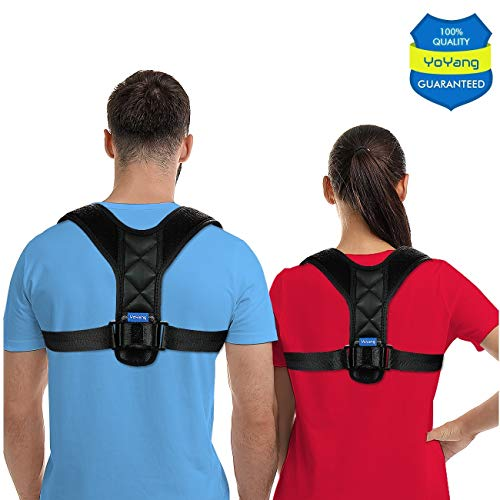 Posture Corrector for Men Women - USA Designed Posture Brace - Effective Upper Back Brace for Clavicle Support and Providing Pain Relief from Neck, Back & Shoulder