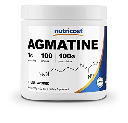 Nutricost Agmatine 100 Grams - Pure Agmatine 100 Servings (Agmatine Sulfate) - High Quality Powder by Nutricost