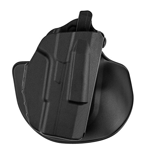 Safariland 7378 7TS ALS Slim, Flexible Paddle & Belt Loop Concealment Holster, SafariSeven Black, Right Hand, Glock 43 - Right Holster Paddle Hand