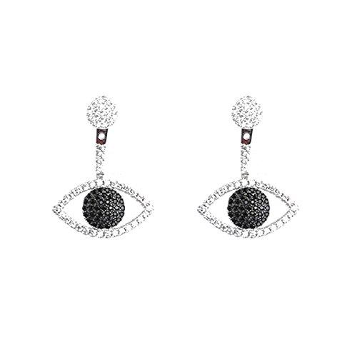 Lovely Fashion Eye Cuff Ear Studs Front Back 2 in 1 Ear Jacket Cuff Earrings Jewelry ()