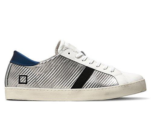 D.a.t.e. Damen Sneaker Silber Bianco