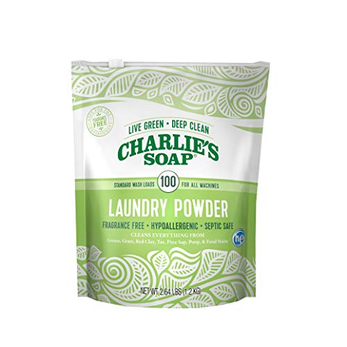 Charlie's Soap – Fragrance Free Powdered Laundry Detergent – 100 Loads (2.64 lbs, 1 ()