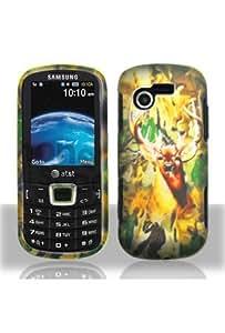 Samsung A667 Evergreen Graphic Rubberized Shield Hard Case - Deer Hunter (Free HandHelditems Sketch Universal Stylus Pen)